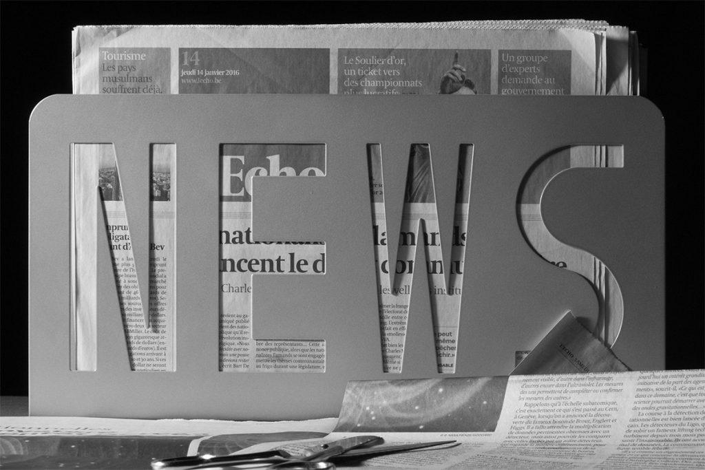 専用の新聞ストッカー